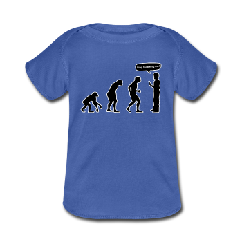 """Stop Following Me"" - Baby Lap Shoulder T-Shirt royalblue / Newborn - LabRatGifts - 1"