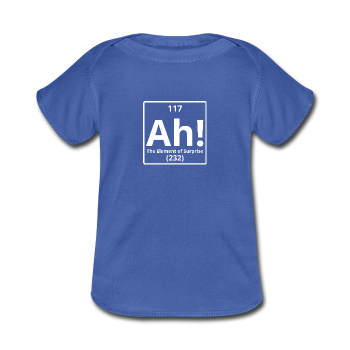 """Ah! The Element of Surprise"" - Baby Lap Shoulder T-Shirt royalblue / Newborn - LabRatGifts - 1"
