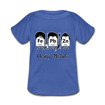 """Heavy Metals"" - Baby Lap Shoulder T-Shirt royalblue / Newborn - LabRatGifts - 1"