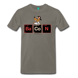 """BaCoN Periodic Table"" - Men's T-Shirt asphalt / S - LabRatGifts - 3"
