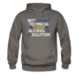 """Technically Alcohol is a Solution"" - Men's Sweatshirt asphalt / S - LabRatGifts - 3"