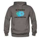 """Be Positive"" (black) - Men's Sweatshirt asphalt / S - LabRatGifts - 4"