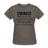 """Engineer"" (black) - Women's T-Shirt charcoal / S - LabRatGifts - 10"