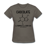"""Chocolate"" - Women's T-Shirt charcoal / S - LabRatGifts - 9"