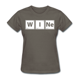 """WINe"" - Women's T-Shirt charcoal / S - LabRatGifts - 12"