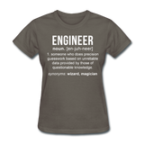 """Engineer"" (white) - Women's T-Shirt charcoal / S - LabRatGifts - 11"