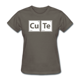 """CuTe"" - Women's T-Shirt charcoal / S - LabRatGifts - 12"