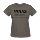 """Research"" (black) - Women's T-Shirt charcoal / S - LabRatGifts - 10"