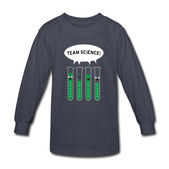 """Team Science"" - Kids' Long Sleeve T-Shirt navy / XS - LabRatGifts - 1"