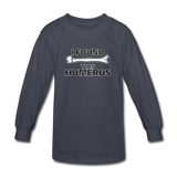 """I Found this Humerus"" - Kids' Long Sleeve T-Shirt navy / XS - LabRatGifts - 2"