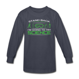 """Stand Back"" - Kids' Long Sleeve T-Shirt navy / XS - LabRatGifts - 2"