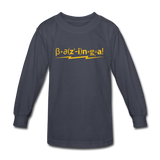 """Bazinga!"" - Kids' Long Sleeve T-Shirt navy / XS - LabRatGifts - 2"