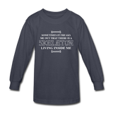 """Skeleton Inside Me"" - Kids' Long Sleeve T-Shirt navy / XS - LabRatGifts - 2"