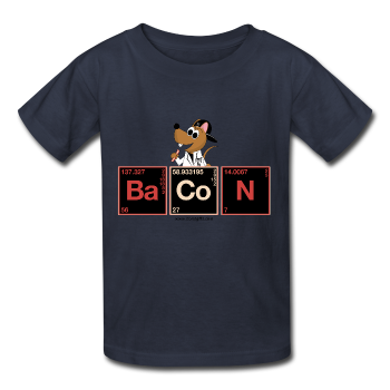 """Bacon Periodic Table"" - Kids T-Shirt navy / XS - LabRatGifts - 1"