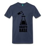 """Drop the Base"" (black) - Men's T-Shirt navy / S - LabRatGifts - 6"