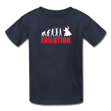 """Evilution"" - Kids T-Shirt navy / XS - LabRatGifts - 2"