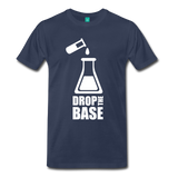 """Drop the Base"" (white) - Men's T-Shirt navy / S - LabRatGifts - 6"