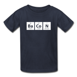 """BaCoN"" - Kids' T-Shirt navy / XS - LabRatGifts - 2"
