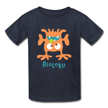 """Biology Monster"" - Kids' T-Shirt navy / XS - LabRatGifts - 1"