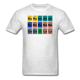 """Lady Gaga Periodic Table"" - Men's T-Shirt light oxford / S - LabRatGifts - 15"