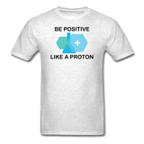"""Be Positive"" (black) - Men's T-Shirt light oxford / S - LabRatGifts - 2"