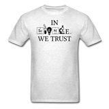 """In Science We Trust"" (black) - Men's T-Shirt light oxford / S - LabRatGifts - 2"