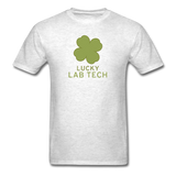 """Lucky Lab Tech"" - Men's T-Shirt light oxford / S - LabRatGifts - 9"