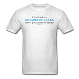 """Chemistry Jokes"" - Men's T-Shirt light oxford / S - LabRatGifts - 10"