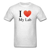 """I ♥ My Lab"" (black) - Men's T-Shirt light oxford / S - LabRatGifts - 2"