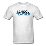 """sChOOL Teacher"" - Men's T-Shirt light oxford / S - LabRatGifts - 9"