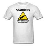 """Warning Compressed Gas Inside"" - Men's T-Shirt light oxford / S - LabRatGifts - 10"