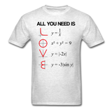 """All You Need is Love"" - Men's T-Shirt light oxford / S - LabRatGifts - 2"