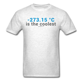 """-273.15 ºC is the Coolest"" (gray) - Men's T-Shirt light oxford / S - LabRatGifts - 2"