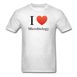 """I ♥ Microbiology"" (black) - Men's T-Shirt light oxford / S - LabRatGifts - 2"