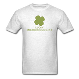 """Lucky Microbiologist"" - Men's T-Shirt light oxford / S - LabRatGifts - 9"