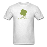 """Lucky Biologist"" - Men's T-Shirt light oxford / S - LabRatGifts - 9"