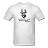 """Albert Einstein: T-Shirts Quote"" - Men's T-Shirt light oxford / S - LabRatGifts - 2"