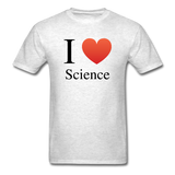 """I ♥ Science"" (black) - Men's T-Shirt light oxford / S - LabRatGifts - 2"