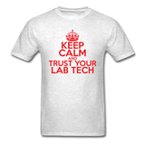 """Keep Calm and Trust Your Lab Tech"" (red) - Men's T-Shirt light oxford / S - LabRatGifts - 2"