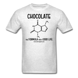 """Chocolate"" - Men's T-Shirt light oxford / S - LabRatGifts - 14"