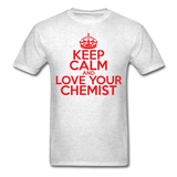 """Keep Calm and Love Your Chemist"" (red) - Men's T-Shirt light oxford / S - LabRatGifts - 2"