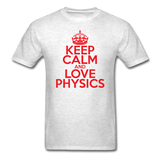 """Keep Calm and Love Physics"" (red) - Men's T-Shirt light oxford / S - LabRatGifts - 2"