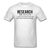"""Research"" (black) - Men's T-Shirt light oxford / S - LabRatGifts - 2"