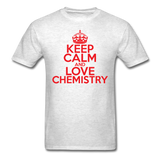 """Keep Calm and Love Chemistry"" (red) - Men's T-Shirt light oxford / S - LabRatGifts - 2"