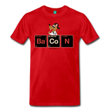 """BaCoN Periodic Table"" - Men's T-Shirt red / S - LabRatGifts - 9"