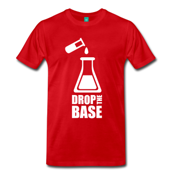 """Drop the Base"" (white) - Men's T-Shirt red / S - LabRatGifts - 1"