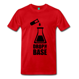 """Drop the Base"" (black) - Men's T-Shirt red / S - LabRatGifts - 1"