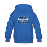 """I Found this Humerus"" - Kids' Sweatshirt royal blue / S - LabRatGifts - 4"