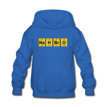 """NaH BrO"" - Kids' Sweatshirt royal blue / S - LabRatGifts - 1"
