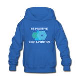 """Be Positive"" (white) - Kids' Sweatshirt royal blue / S - LabRatGifts - 5"